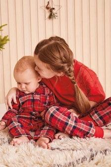 Check Woven Bottoms With Boxy Top Pyjamas (3-16yrs)