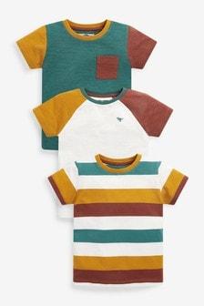 Farbblock-T-Shirts, 3er-Pack (3Monate bis 7Jahre)