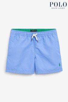 Short de bain Ralph Lauren bleu à logo