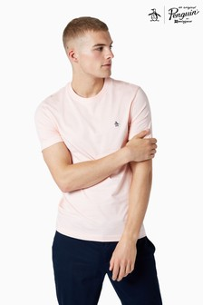 Original Penguin® Pink Short Sleeved Pin Point Embroidered Logo T-Shirt