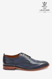 Contrast Sole Leather Brogues