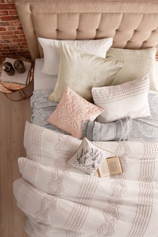 Peri Home Cream Metallic Decorative Cushion