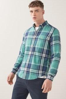 Károvaná ľahká košeľa