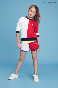 Tommy Hilfiger Red Colourblock Sweat Shorts