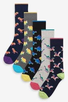 Pack de cinco pares de calcetines