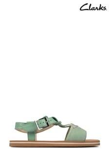 Clarks Light Green Finch Summer K Sandals