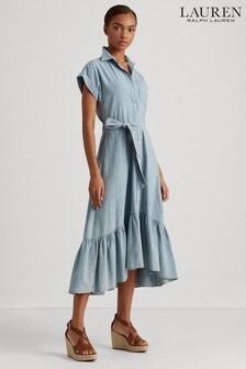 Lauren Ralph Lauren® Denim Lightweight Antwan Shirt Dress