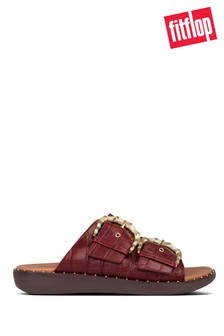FitFlop™ Red Kaia Croc Print Sliders