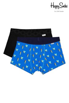 Happy Socks Mens Parrot Trunks Two Pack