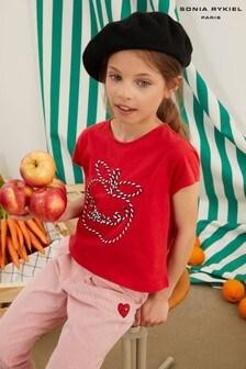 Sonia Rykiel Paris Embroidered Logo T-Shirt