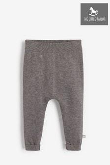 מכנסיים סרוגים לתינוקות בצבע אפור של The Little Tailor