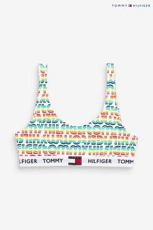 Sutien pentru sport model curcubeu Tommy Hilfiger galben