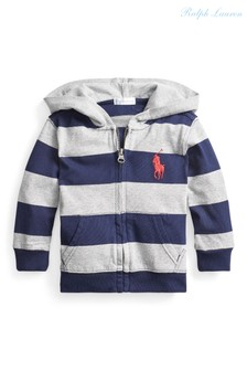 Ralph Lauren Grey/Navy Striped Hoody