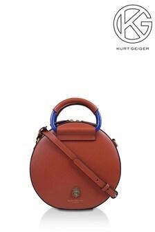 Kurt Geiger London Tan Harriet Eagle Round Cross Body Bag