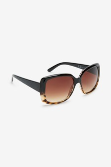 نظارة شمسية مربعة كبيرة ظلال ألوان متدرجة