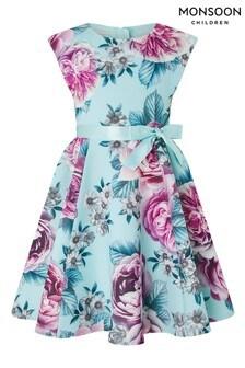 Modré šaty s potlačou Monsoon Leena