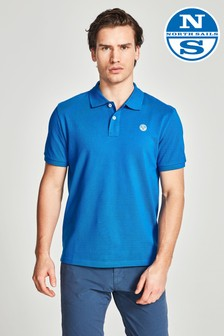 North Sails Polohemd mit Logo, Blau