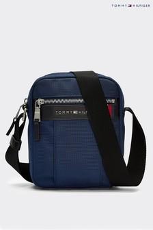 Tommy Hilfiger Blue Elevated Nylon Mini Crossover Bag
