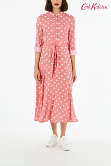 Cath Kidston® Red Button Spot Shirt Dress