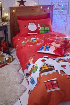 Catherine Lansfield Christmas Presents Duvet Cover and Pillowcase Set
