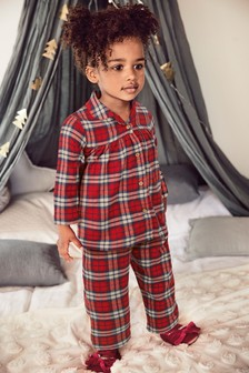 Пижама в клетку на пуговицах (9 мес. - 8 лет)