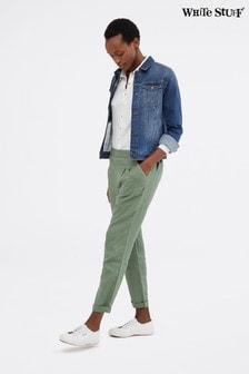 מכנסי פשתן של White Stuff דגם Maison בירוק