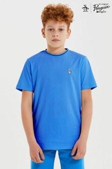 Niebieska koszulka Original Penguin® z logo z pingwinem