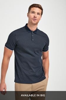 Polo košile s geometrickým vzorem