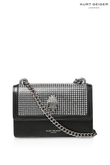 Kurt Geiger London Shoreditch Small Black Crystal Cross Body Bag