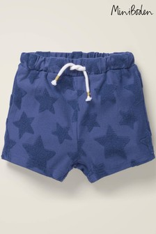 Boden Blue Textured Towelling Shorts