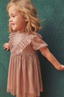 Платье в горошек с оборками (3 мес.-7 лет)