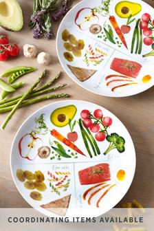 Set of 2 Portion Plates