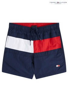 Tommy Hilfiger Blue Core Flag Medium Drawstring Trunks