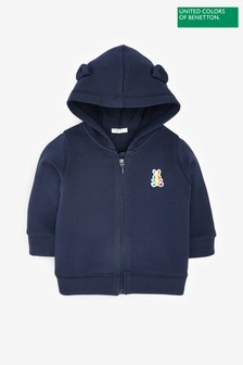 Benetton Zip Ear Hoody