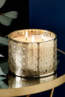 Golden Amber 3 Wick Candle