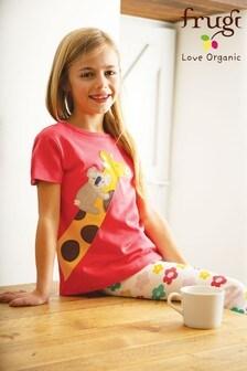 Frugi GOTS Organic Cotton Giraffe Appliqué Pyjamas