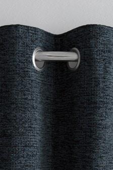 Texturált Chenille fűzőlyukak bélelt függöny