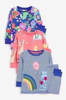 Trzy piżamy z aplikacją postaci (9m-cy-12lata)