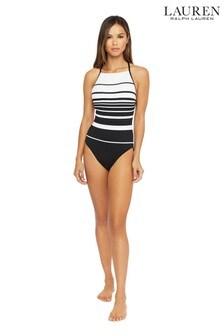Lauren Ralph Lauren® Gradient Stripe High Neck Shaping Mio Once Piece Swimsuit