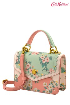 Cath Kidston® Pink Mayfield Blossom Small Mini Leather Bag