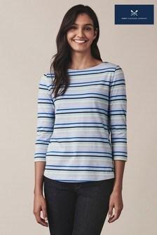 חולצת טי של Crew Clothing דגם Essential Breton בכחול