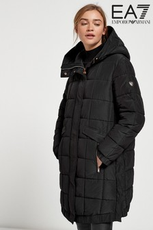 Emporio Armani EA7 Padded Hooded Long Jacket