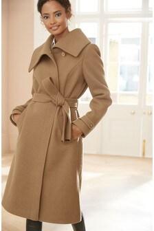 Manteau avec ceinture