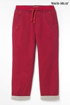 Pantalon chino White Stuff Kids Expedition en sergé rouge