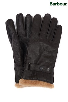 Barbour® Brown Leather Utility Gloves