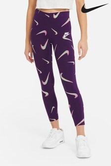 Пурпурные леггинсы с принтом Nike Favourite