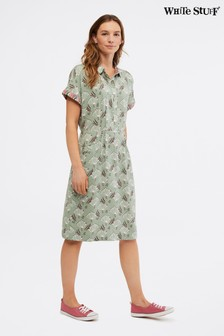 White Stuff Green Alba Dress