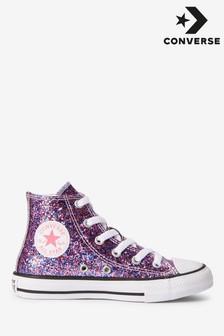 נעלי ספורט עם נצנצים לילדים שלConverse