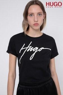 חולצתטי צמודה שלHUGO