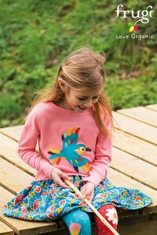 Frugi GOTS Teal Paisley Print Organic Cord Skirt